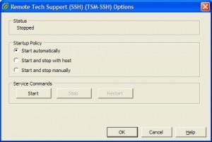 vSphere Remote Tech (SSH)
