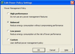 Power Policy Settings