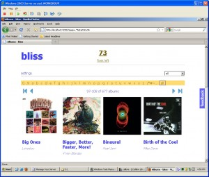 blissHQ screen